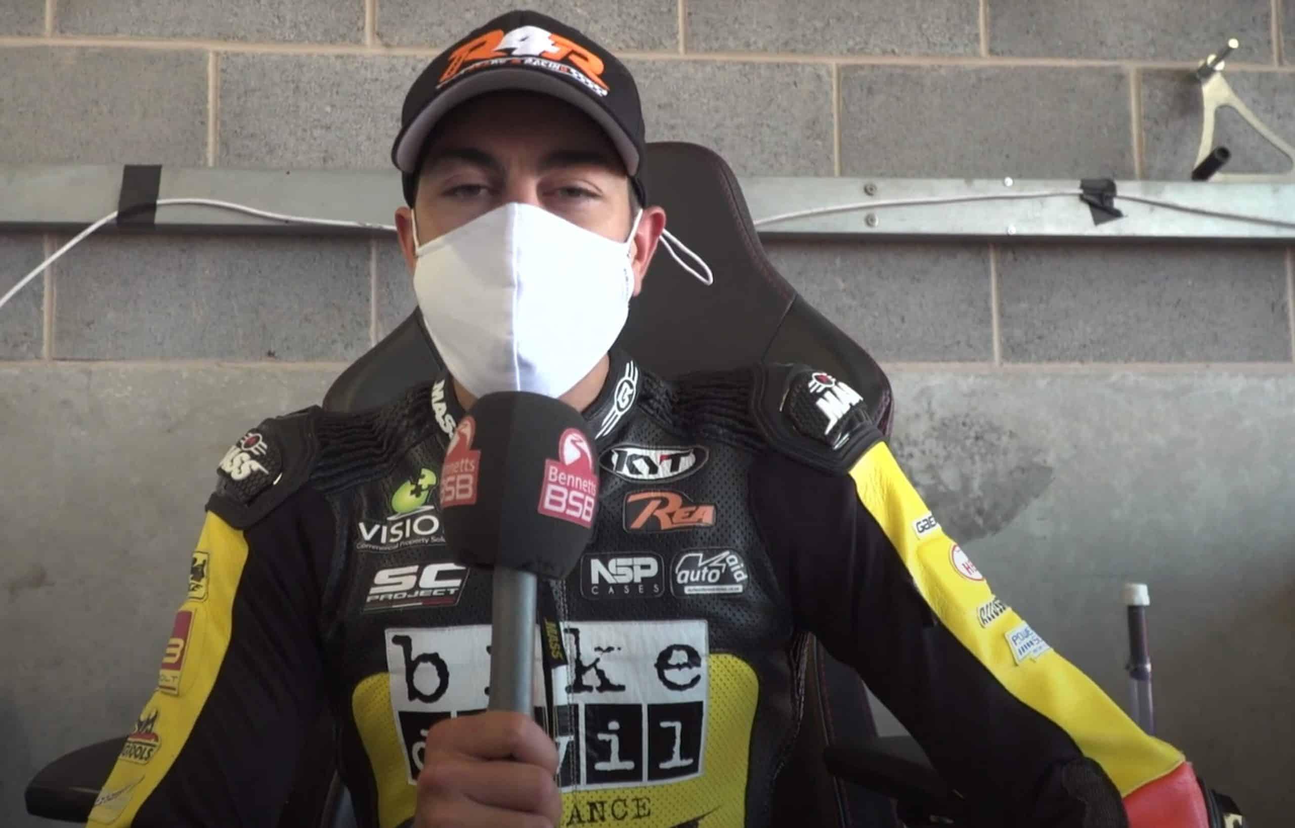 Gino Rea at Donnington Race Track, Bennetts BSB Restart 2020